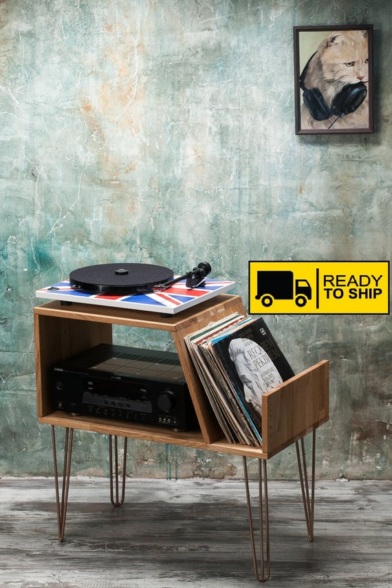 2. LumiWood Record Player Stand